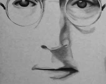 John Lennon hand painted canvas
