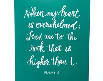 Psalm 61:2 Print