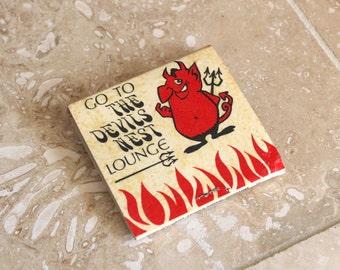The Devils Nest Lounge matchbook - Devil's Nest bar matches - Omaha Nebraska bar matchbook - matchbook cover