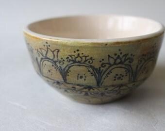 Iron Moss Handthrown Henna Inspired Bowl
