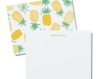 Pineapple - personalized notecards