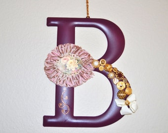 "Altered Mud Pie Metal Initial ""B"" Wall Hanging"