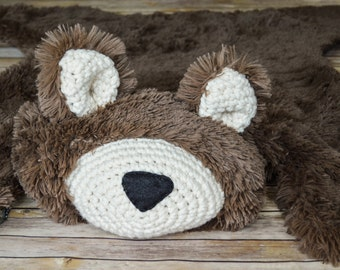 Nursery Rug /  regular size Bear Rug / woodland nursery / Baby room decor / animal playmat