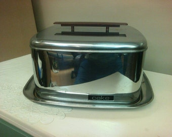 Lincoln Beautyware Chrome Cake Carrier