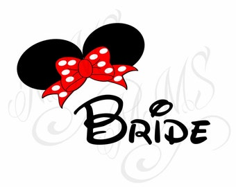 Bride Groom Wedding Mickey Mouse Head Disney Family Download Iron On Craft Digital Disney Cruise Line Magnet Shirts