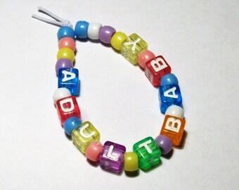 Adult Baby ABDL support bracelet