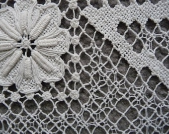 Lovely teacloth or table cloth in Filet Lace