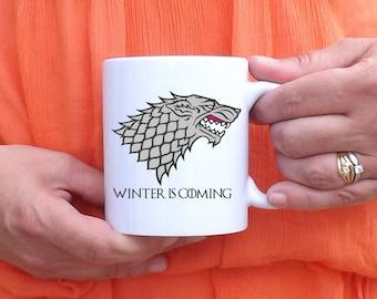 Mug Winter is coming - Game of Thrones - Jon Snow - House STARK