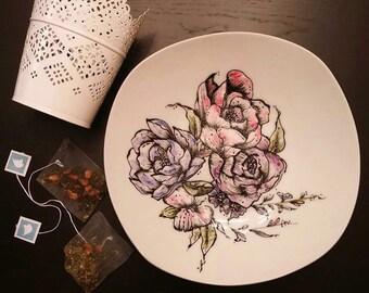 Plate fleurie