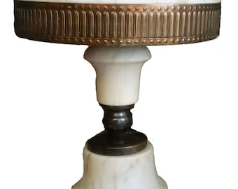 Antique ALABASTER Table Lamp