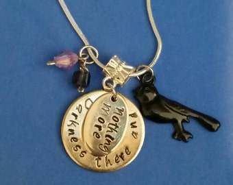 Darkness there and nothing more necklace