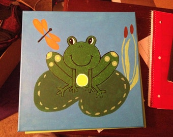 Frog Canvas Painting