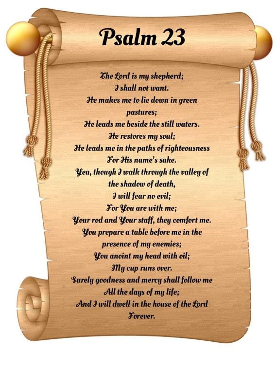 Psalm 23 Text Deutsch
