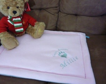 Cat Bed.  Personalised Embroidered Cat, Kitten Mat Pet Pad Bed in a Choice of Colours. Lovely Soft Fleece. For The Love Of Cats Cat Supplies