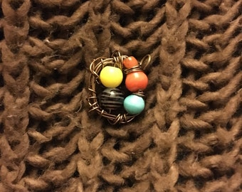 Wire Wrap, Bird's Nest Pendant
