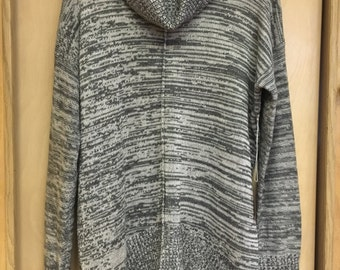 Gray and white cowl neck tunic sweater size small/medium