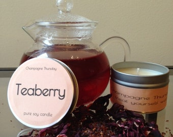 Teaberry Soy Candle, 4oz.