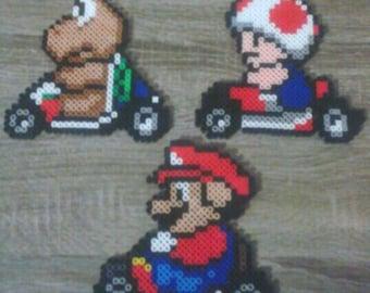 Super Mario Kart Character Perler Beads