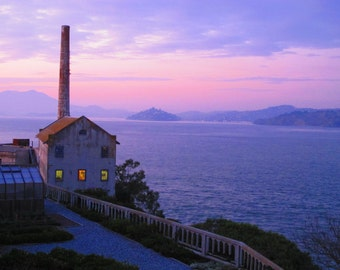 11x14 Color Photo - Power Station by Sunset Alcatraz #1