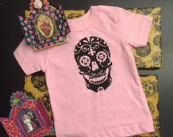 Sugar Skull Onesie//Toddler T-shirt//Day of the dead