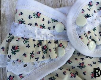 Hybrid Cloth Diaper - Shabby Chic Cloth Diaper - Ruffle Cloth Diaper - Cottage Cloth Diaper - Country Cloth Diaper