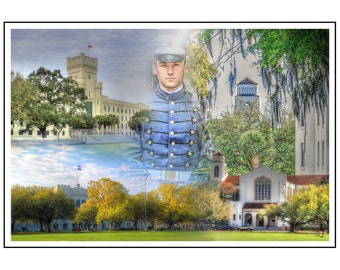The Citadel, Collage, Your Cadet in Center, Charleston, SC, Bulldogs