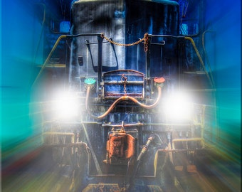 Train, Blues, Lights, Photography, Ghost Train