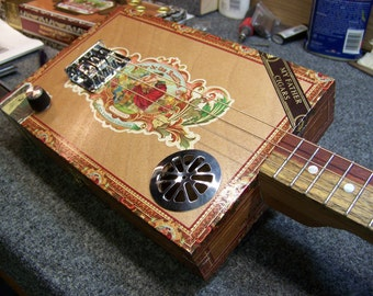 My Father Cigars - 3 String Cigar Box Guitar