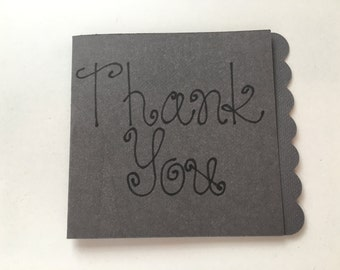Gray Thank You Card