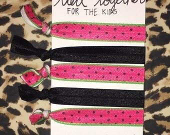 Elastic Hair Ties ~ Hair Bands ~ Watermelon