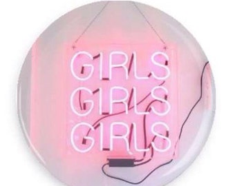 The 1975 inspired buttons/pins or mirror - Girls girls girls