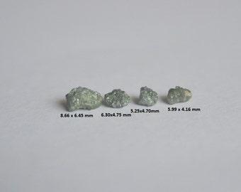 Green Raw Diamond, Green Rough Diamond, Rough Diamond, Uncut Diamond, Loose Diamond, Green Conflict Free 3.98 ct 8.66 x 4.16 mm 4 pes