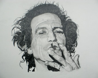 Keith Richards The Rolling Stones Ltd. Edition Print