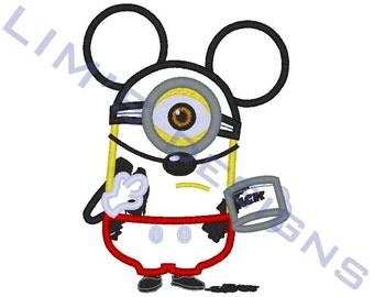 """Mouse Servant applique machine embroidery design- 3 sizes 4x4"""", 5x7"""", 6x10"""""""