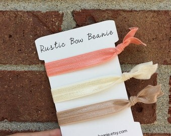 Neapolitan Ice Cream Inspired Elastic Hair Ties