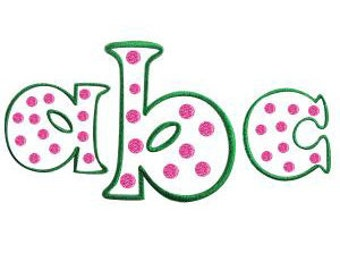 Puff Polka Dots Large Embroidery Fonts