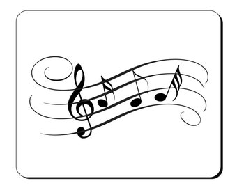 Mouse Mat - Music Notes (sheet music) - Musical Mouse Pad MI110