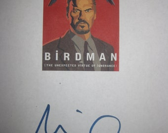 Birdman or the Unexpected Virtue of Ignorance Signed Film Movie Screenplay Script Autograph Michael Keaton signature Award winning film