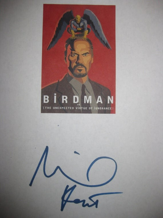 Birdman or the Unexpected Virtue of Ignorance Signed Film Movie Screenplay Script Autograph Michael Keaton signature Award winning film
