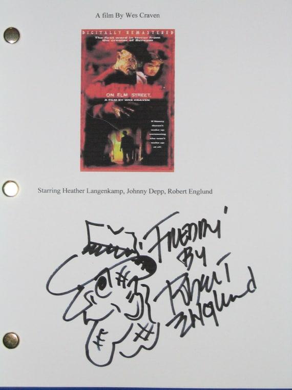 Nightmare On Elm Street Signed Movie Film Script Screenplay Robert Englund Artwork signature one of the best horror films ever classic
