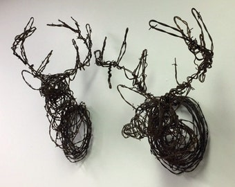 Barbed Wire Deer Trophy - Half Size