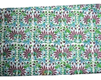 1 to 50 Yard Indian Hand Block Printed Cotton Printed Fabric