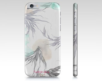 "phone case- ""lightness"" watercolor illustration- on- mobile device case-iPhone- samsung- iPhone case-samsung case"