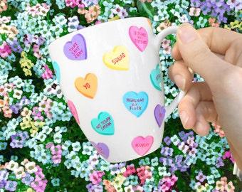 Sassy Candy Hearts Mug