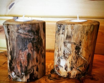 Rustic wood candle holder, Rustic Wedding Centerpieces, Wood Candle Centerpieces, rustic wedding decor, home decor, country wedding