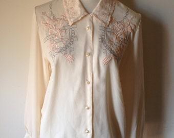 Embellished Vintage Blouse