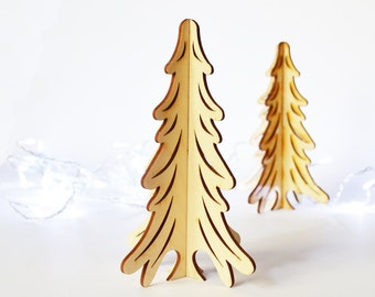Small Christmas Tree in Wood - Wooden Tree Christmas Ornament