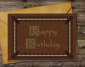 ONCE UPON A TIME Storybook / Happy Birthday / Printable greeting card / Instant download / Henry's Book / Last minute Gift /