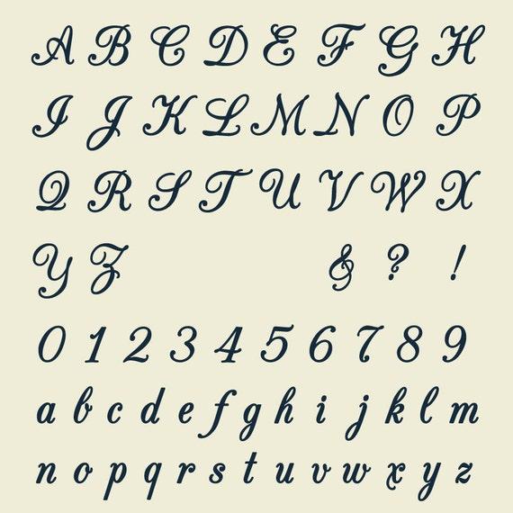 Download Full Alphabet SVG Fonts Cutfile - Monogram Script cricut ...