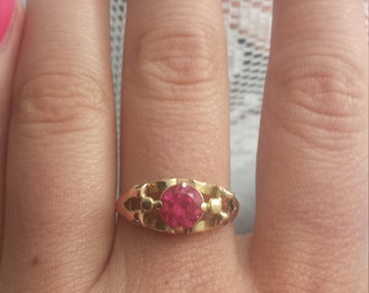 Ruby 14 K gold ring